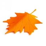 Maple Autumn Leaf Style Home Decor Finger Safety Door Stop Stopper(Orange)