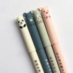 4 PCS Panda Mouse Erasable Ink Gel Pen School Office Supply Gift Stationery(Blue Ink)