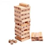 54 PCS Pile Wooden Building Blocks Educational Game for Children
