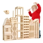 100 PCS / Set Wooden Architectural Model Building Blocks Puzzle Children Early Education Toys