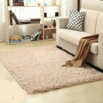 Shaggy Carpet for Living Room Home Warm Plush Floor Rugs fluffy Mats Kids Room Faux Fur Area Rug, Size:100x160cm(Beige)