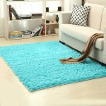 Shaggy Carpet for Living Room Home Warm Plush Floor Rugs fluffy Mats Kids Room Faux Fur Area Rug, Size:80x160cm(Blue)
