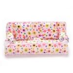 Mini Furniture Flower Sofa 20cm Couch +2 Cushions for Doll House Accessories(Cloth sofa)