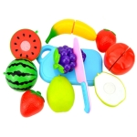 Pretend Play Plastic Food Toy Cutting Fruit Vegetable for Children, Random Color and Style 8 PCS / Set