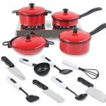 13 in 1 Mini Kitchen Cookware Pot Pan Kids Pretend Cook Play Toy Simulation Toys Set