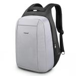 Hidden Anti-theft Zipper 15.6 inch Men School Laptop Backpacks Waterproof Travel Bag with USB Charging Port(Sliver gray)