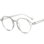Fashion Eyeglasses Retro TR Frame Plain Glass Spectacles(Gray)
