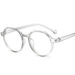 Fashion Eyeglasses Retro TR Frame Plain Glass Spectacles(Gray)