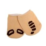 3 Pairs Baby Asymmetric Boat Socks Cotton Cartoon Children Socks Baby Anti-Skid Socks, Size:S(Asymmetrical Apricot)