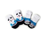2 Pairs Cute Puppy Dogs Pet Knitted Anti-slip Socks(Panda)