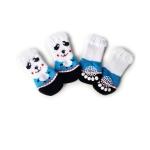 2 Pairs Cute Puppy Dogs Pet Knitted Anti-slip Socks(Panda)