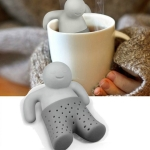 Silicone Mr Little Man Tea Infuser Filter(Grey)