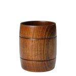 3 PCS Wood Cup Primitive Handmade Natural Spruce Wooden Tea Cup, Size:7.8CM*10.2CM