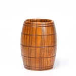 3 PCS Wood Cup Primitive Handmade Natural Spruce Wooden Tea Cup, Size:6.0CM*10.5CM