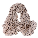 Ladies Cats Printed Chiffon Scarf, Length: 150cm x 60cm(Pink)