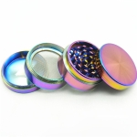 2 PCS 4-layer Aluminum Herbal Herb Alloy Tobacco Grinder Smoke Grinder
