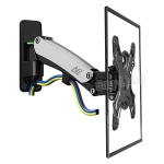 NB F350 Aluminum Gas Spring Wall Mount Full Motion Monitor Holder Arm for 40-50 inch LCD LED TV, Loading 17.6-35lbs (8-16kgs)(silver)