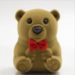 5 PCS Cute Bear Ring Jewllery Gift Boxes(Brown)