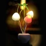 Light Control Dreamy Mushroom LED Night Light, AC 110-220V, EU Plug