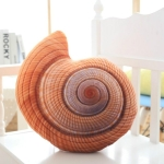 Creative Marine Life Plush Pillows Conch Shell Starfish Stuffed Plush Toys Cute Cushion Dolls for Kids(Conch)