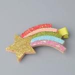 Cute Sparkly Felt Animal Hairpin Girls Children Hair Accessories, Size: 4.5cm(Star)