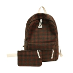Large Capacity School Bags Backpack Travel Bag Female Bagpack(Brown )