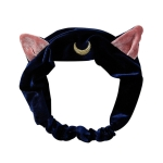 Cat Ears Hairband  Makeup Tools Hair Accessories(Blue)