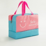 Fashion Men And Women Travel Waterproof Storage Bag Oxford Cloth Travel Bag Swimming Bag Beach Bag(Pink Smiley Face)