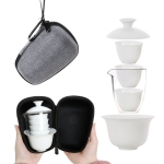 Travel Tea Cup Set Portable Receiving Tea Maker Kung Fu Teaware Gifts, Size: 10.8×9.8x13cm