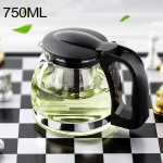 Large-capacity Stainless Steel Heat Resistant Glass Filter Tea Pot, Capacity: 750ml