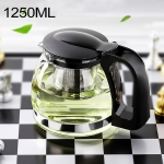 Large-capacity Stainless Steel Heat Resistant Glass Filter Tea Pot, Capacity: 1250ml