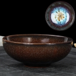 Kiln Transmutation Kongfu Bowl Ceramic Tea Cup, 01, Capacity: 75ml, Size: Large, 7.7×2.8cm