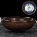 Kiln Transmutation Kongfu Bowl Ceramic Tea Cup, 01, Capacity: 75ml, Size: Large, 7.7×2.8cm