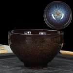 Kiln Transmutation Kongfu Bowl Ceramic Tea Cup, 06, Capacity: 160ml, Size: Large, 8.7×5.2cm