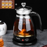 Automatic Insulation Glass Electric Kettle Steam Teapot Tea Maker (6 Handle Cups)