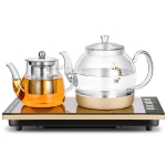 Automatic Bottom Self-suction Type Electromagnetic Tea Stove On The Bottom of The Kettle Household Intelligent Pumping Type Tea Set (Glass Insulation)