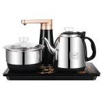 Fully Automatic Water Electric Kettle Home Cooking Water Bottle Pumping Electric Tea Stove Set (Stainless Steel Black)