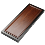 Rectangular Bamboo Tea Tray with Round Holes, Size: 80 x 31 x 4.3cm