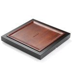 Square Bamboo Tea Tray with Round Holes, Size: 41 x 41 x 4.3cm