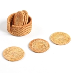 7 in 1 Handmade Bamboo Anti-scalding Round Cup Mat Set