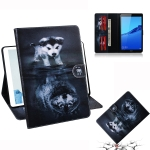 Wolf and Dog Pattern Horizontal Flip Leather Case for Huawei MediaPad M5 Lite 8 / Honor Tab 5, with Holder & Card Slot & Wallet