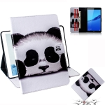 Panda Pattern Horizontal Flip Leather Case for Huawei MediaPad M5 Lite 8 / Honor Tab 5, with Holder & Card Slot & Wallet
