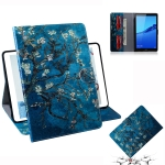 Apricot Blossom Pattern Horizontal Flip Leather Case for Huawei MediaPad M5 Lite 8 / Honor Tab 5, with Holder & Card Slot & Wallet