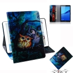 Oil Owl Pattern Horizontal Flip Leather Case for Huawei MediaPad M5 Lite 8 / Honor Tab 5, with Holder & Card Slot & Wallet