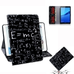 Formula Pattern Horizontal Flip Leather Case for Huawei MediaPad M5 Lite 8 / Honor Tab 5, with Holder & Card Slot & Wallet