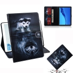 Wolf and Dog Pattern Horizontal Flip Leather Case for Huawei MediaPad M5 Lite 10.1, with Holder & Card Slot & Wallet