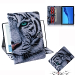 Tiger Pattern Horizontal Flip Leather Case for Huawei MediaPad M5 Lite 10.1, with Holder & Card Slot & Wallet