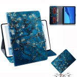 Apricot Blossom Pattern Horizontal Flip Leather Case for Huawei MediaPad M5 Lite 10.1, with Holder & Card Slot & Wallet