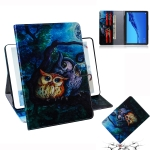 Oil Owl Pattern Horizontal Flip Leather Case for Huawei MediaPad M5 Lite 10.1, with Holder & Card Slot & Wallet