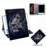 Lion Pattern Horizontal Flip Leather Case for Amazon Kindle Paperwhite 4 (2018) / 3 / 2 / 1, with Holder & Card Slot & Wallet